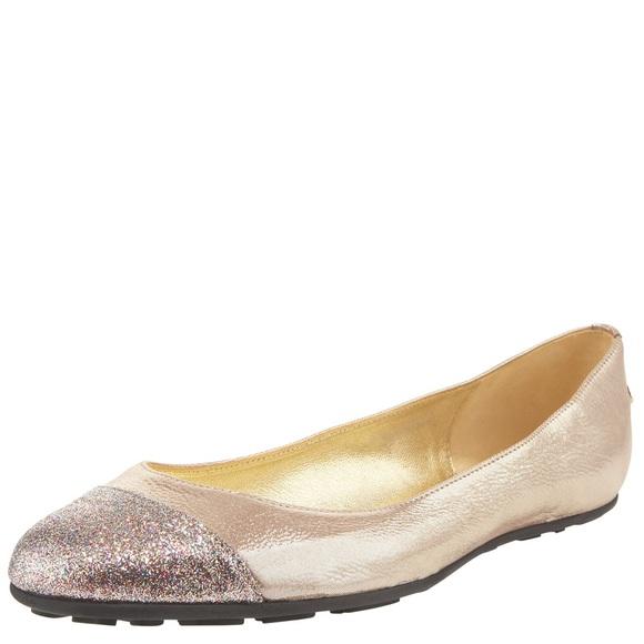 39029a31a1 Jimmy Choo Shoes - Jimmy Choo Whirl Glitter Cap Toe Ballerina Flat